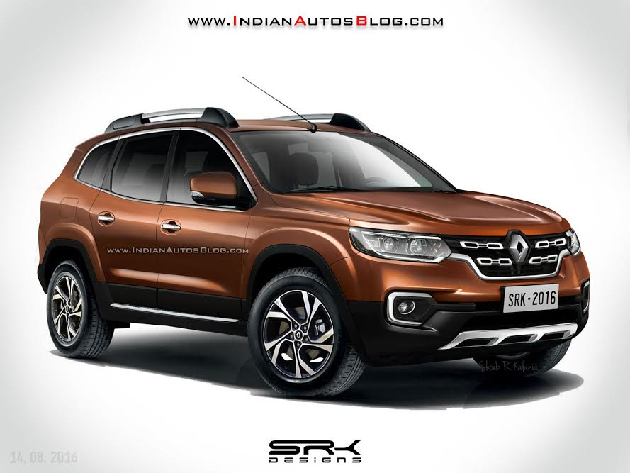 2018 Renault Duster with 7 Seats Rendered