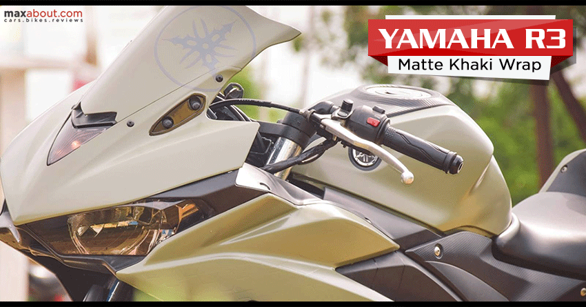 Yamaha R3 Matte Khaki Wrap by SV Stickers