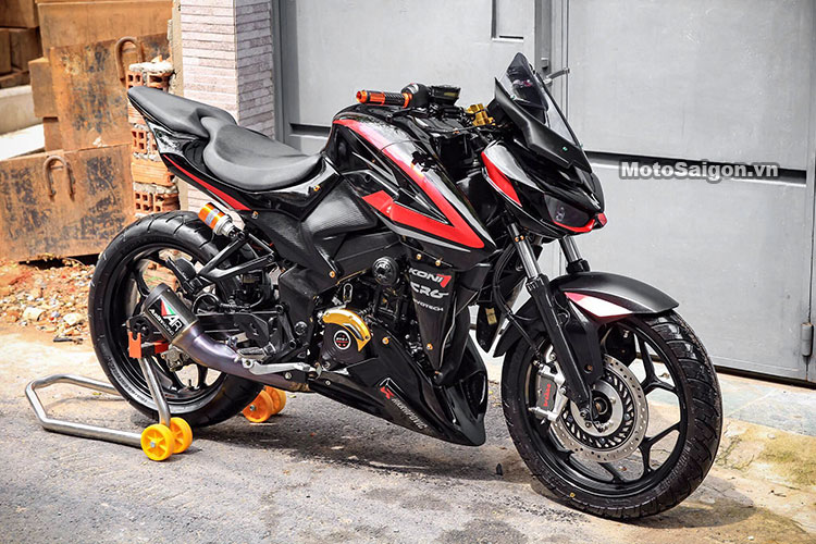 Meet Bajaj Pulsar Ns350 A Heavily Modified Ns200 With A