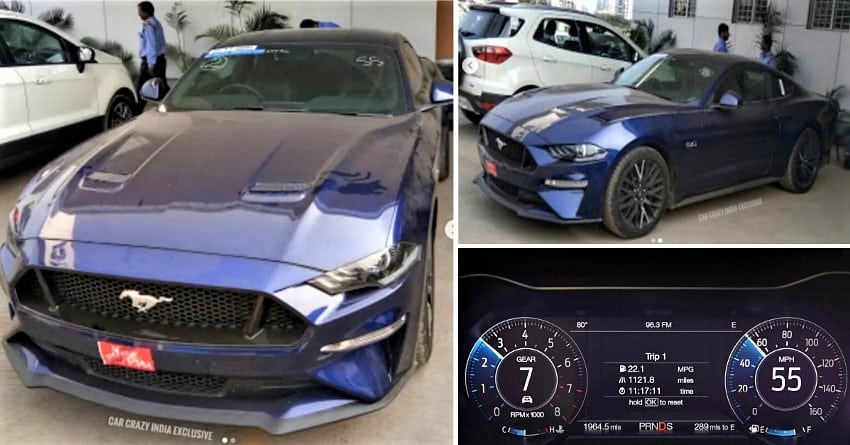 2019 Ford Mustang Gt Muscle Car Spotted In India Launch Soon