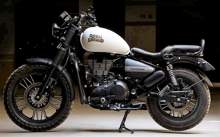 500cc royal enfield thunderbird ivory black edition by eimor customs