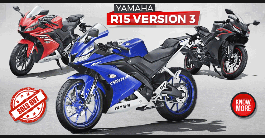 yamaha r15 v3 sold out in 20 minutes