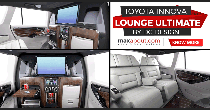 Meet Toyota Innova Crysta Lounge Ultimate Edition By Dc Design