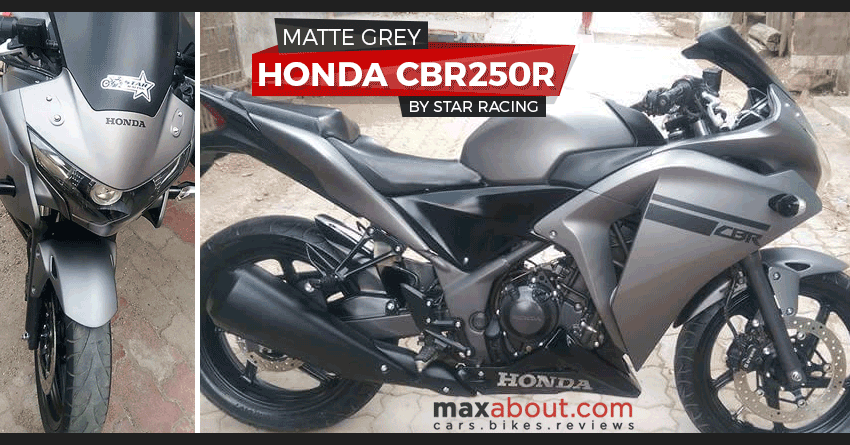 Honda CBR250R Matte Grey Edition by Star Racing (Gujarat)