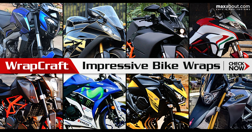 Impressive Bike Wraps by WrapCraft India