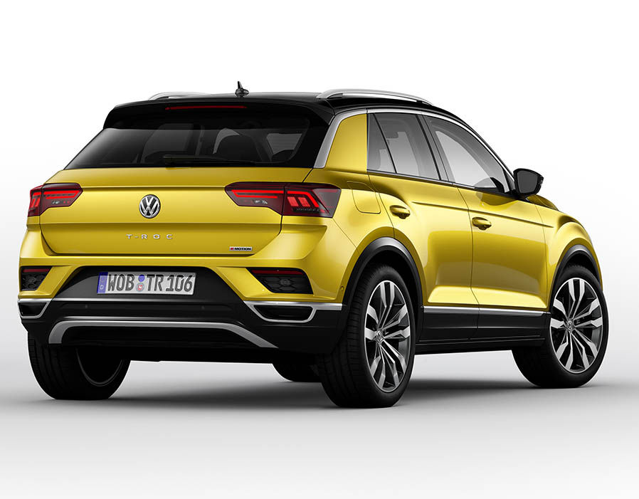 2018 volkswagen t roc compact suv unveiled maxabout news. Black Bedroom Furniture Sets. Home Design Ideas