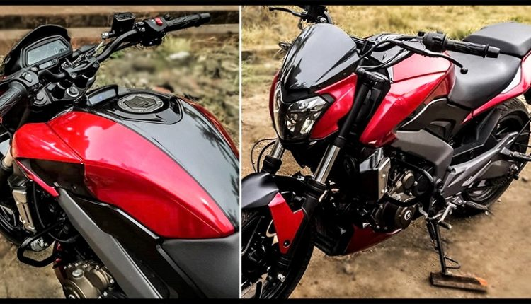 Bajaj Dominar 400 'Ultra Metallic Red' by Knight Auto Customizer