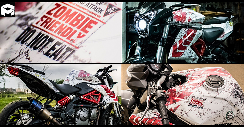 Benelli TNT 600i 'Zombie Edition' by Knight Auto Customizer