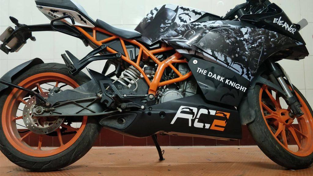 Ktm Rc 200 Batman Edition By A Wraps Chennai