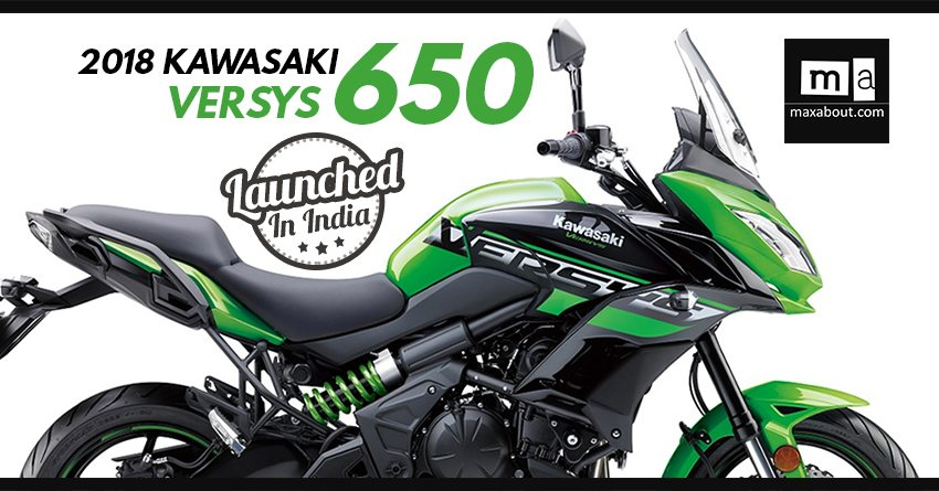 2018 kawasaki versys 650 launched in india inr lakh. Black Bedroom Furniture Sets. Home Design Ideas