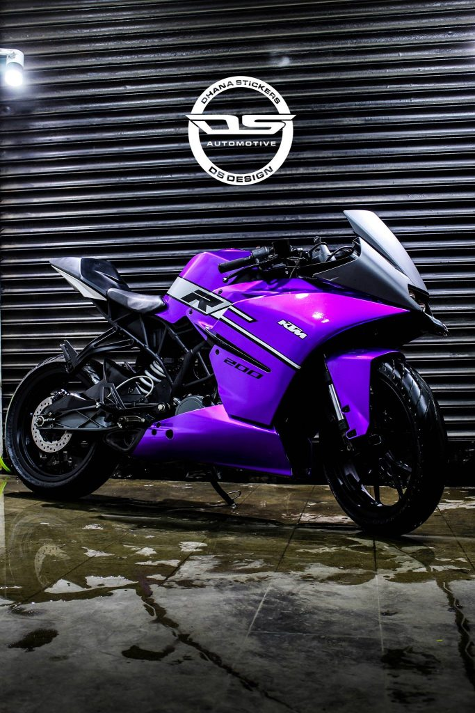Ktm Rc 200 Violet Edition By Dhana Stickers Best Bike Wraps