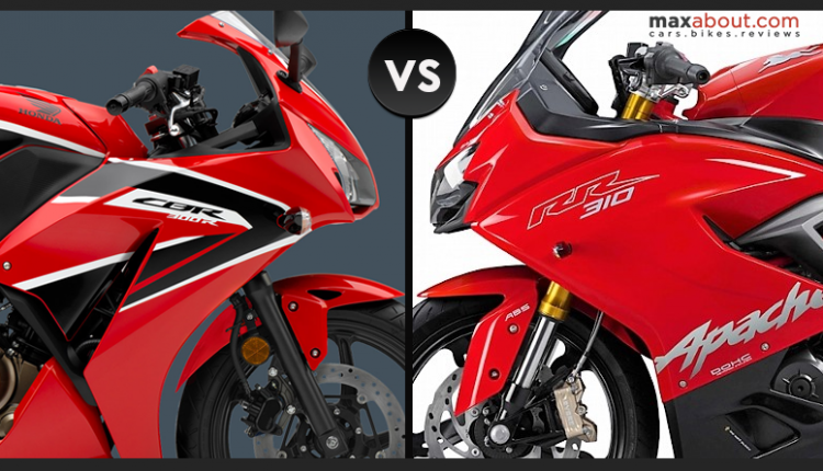 Honda CBR300R vs TVS Apache RR 310 (Detailed Comparison)