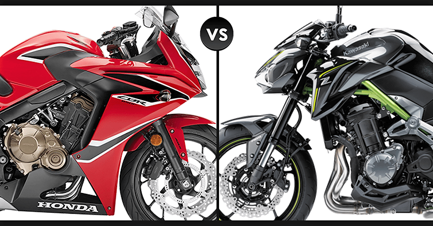 Detailed Comparison Honda CBR650F Vs Kawasaki Z900