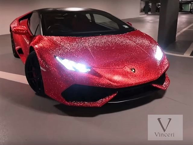 Lamborghini with Swarovski Crystals