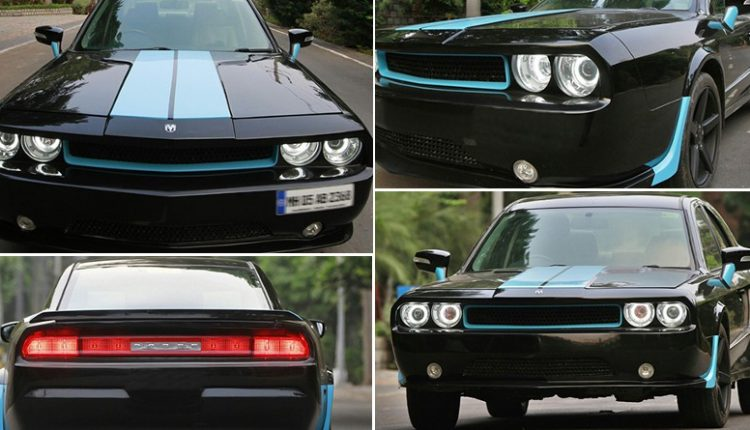 Ford Mondeo Modified into Dodge Challenger Muscle Car