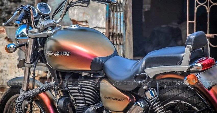 Royal Enfield Thunderbird Color Shift Wrap By Sv Stickers