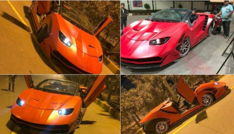 Honda City Modified to Look Like a Lamborghini Centenario