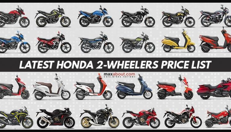 Honda 2-Wheelers Price List in India (Updated)