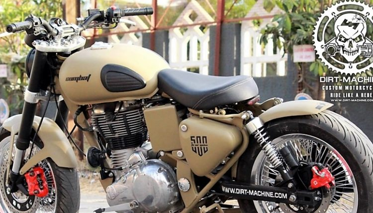 Meet Royal Enfield Classic Combat with USD Forks & Dual Front Discs