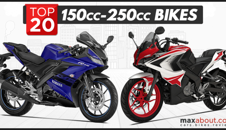 Top 20 Best-Selling 150cc-250cc Bikes in India (May 2018)