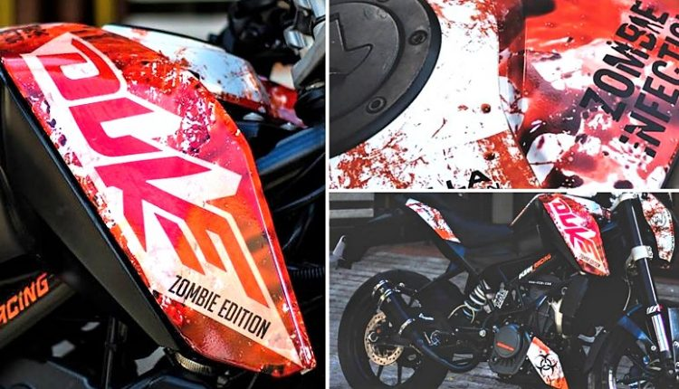 Meet KTM Duke 200 Zombie Edition by A-Wraps (Chennai)