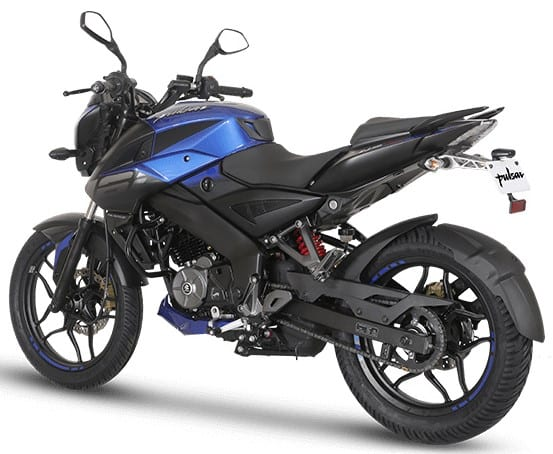 2019 Bajaj Pulsar NS160 Rear 3-Quarter