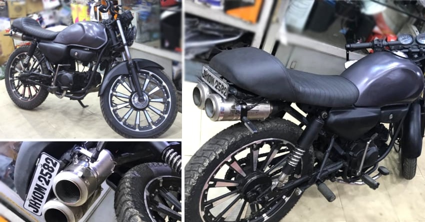 Modified Hero Honda Cd Deluxe With Dual Underseat Exhaust System