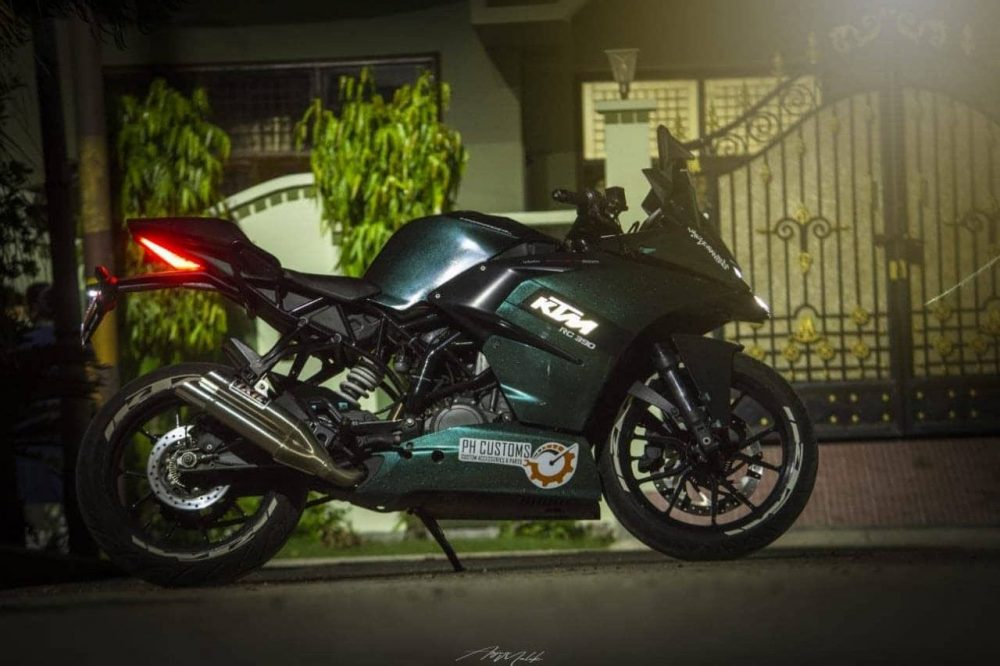 Modified Rc390 With Glowing Ktm Logo By Ph Customs Meerut