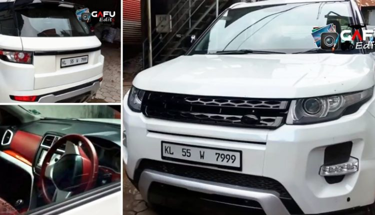 Maruti Vitara Brezza Modified to Look Like a Range Rover Evoque