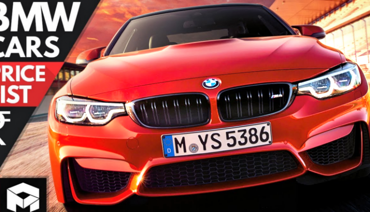 Complete Price List of BMW Cars & SUVs You Can Buy in India