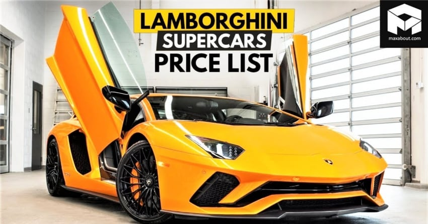 Lamborghini Supercars Price List