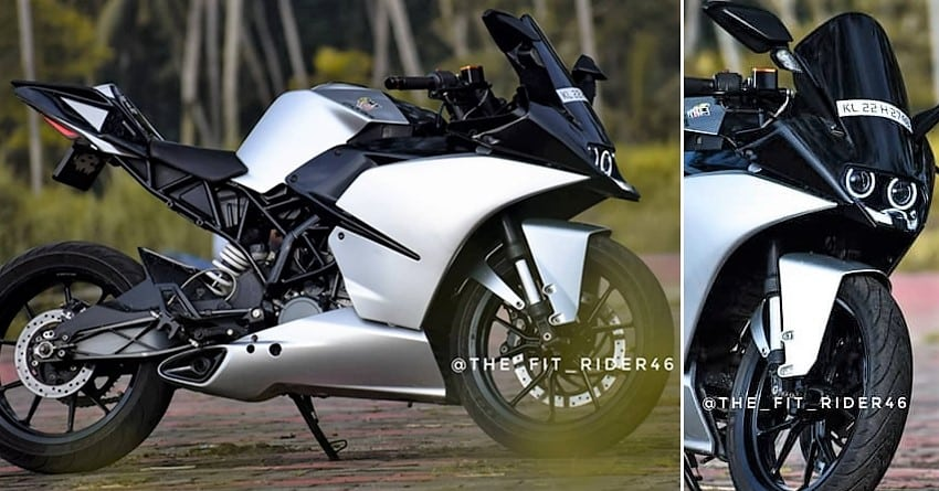 Meet Beautifully Modified Ktm Rc 200 Pearl Silver Edition