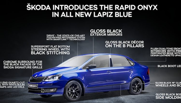 Skoda Rapid Onyx Limited Edition Launched @ INR 9.75 Lakh