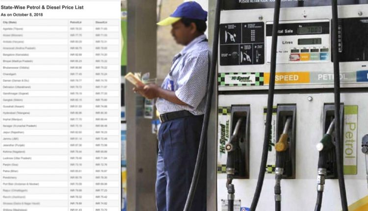 Latest State-Wise Petrol and Diesel Price List [UPDATED]