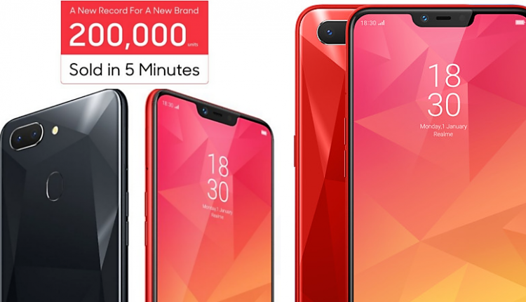 Sales Record: 2,00,000 Units of Realme 2 Sold in Just 5 minutes