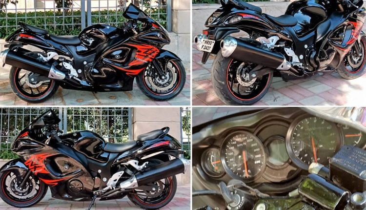Bajaj Dominar 400 Modified to Look Like Suzuki Hayabusa GSX1300R