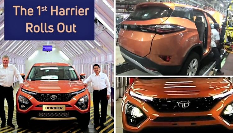 Video: 1st Tata Harrier SUV Rolls Off the Production Line