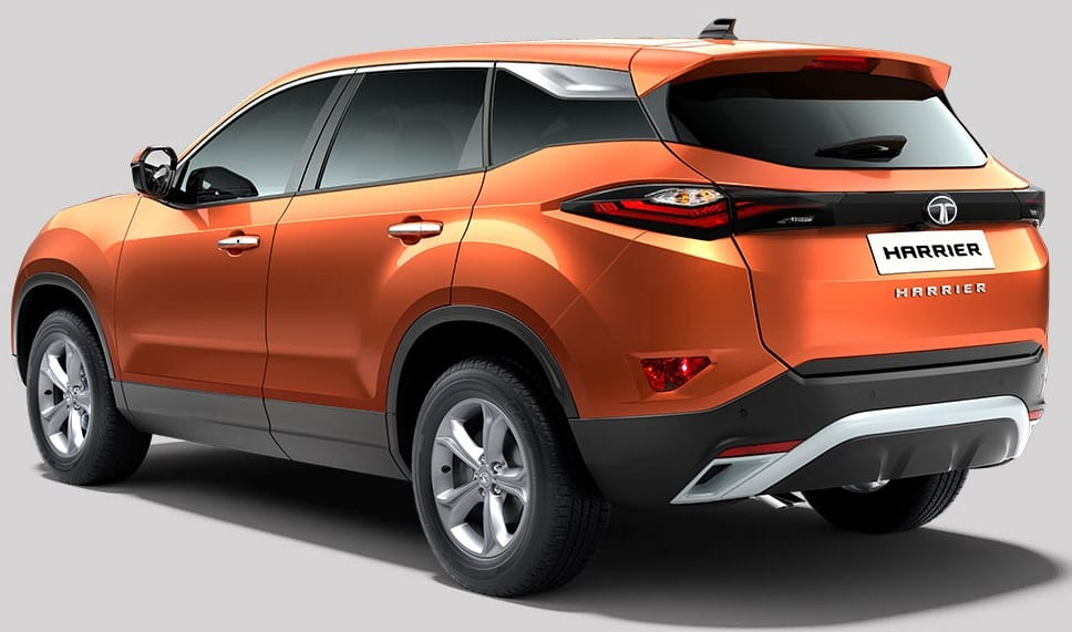 Tata Harrier Rear 3-Quarter