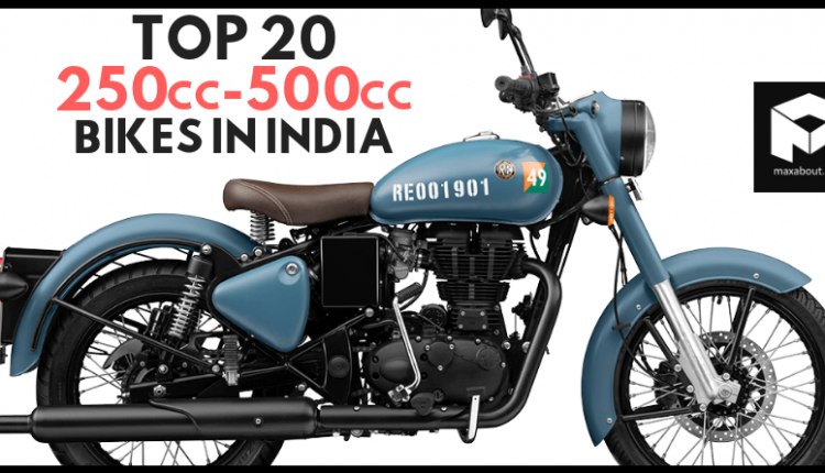 Sales Report: Top 20 Best-Selling 250cc-500cc Motorcycles in India
