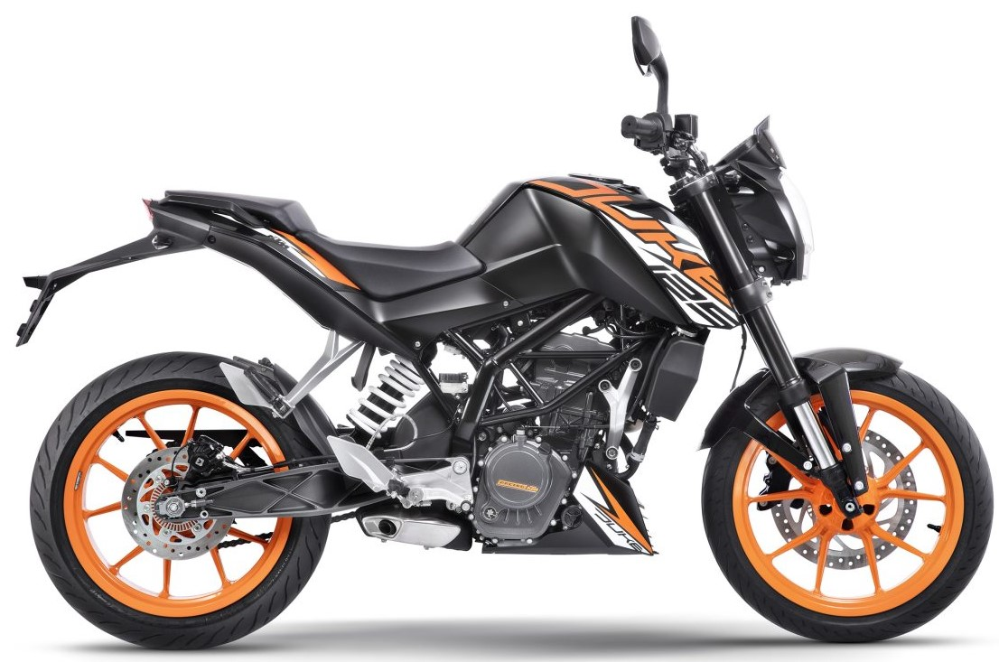 KTM 125 Duke ABS in Black Color