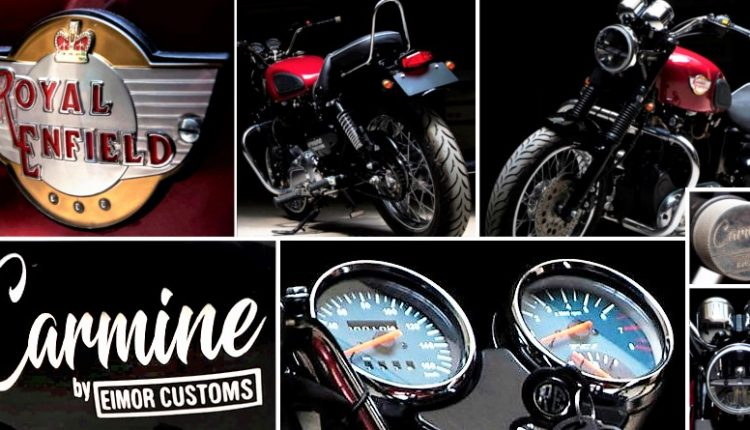 Meet Royal Enfield Electra 5S Carmine by EIMOR Customs