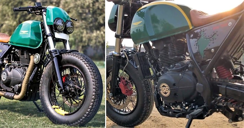 Meet Royal Enfield Himalayan Glory 411 Cafe Racer by TNT Motorcycles
