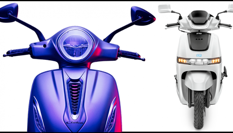 Bajaj Chetak Beats TVS iQube Scooter by a Huge Margin