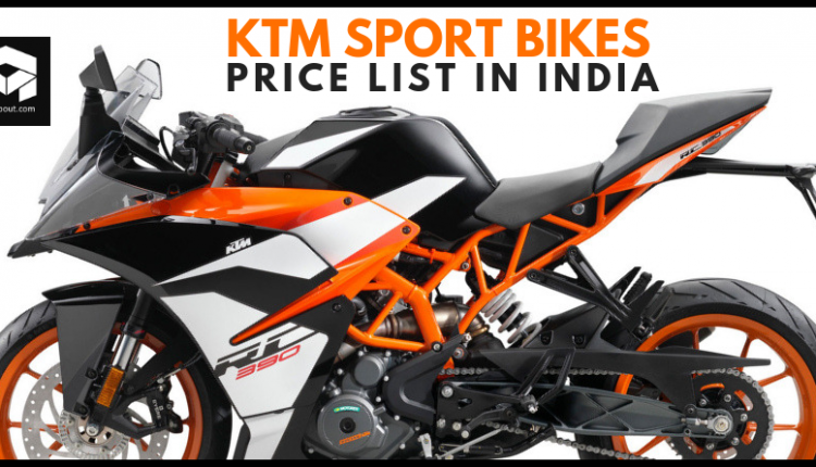 Latest Price List of KTM Sport Bikes You Can Buy in India