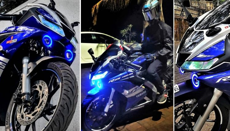 Meet Modified Yamaha R15 V3 with Cool Graphics & Projector Lights