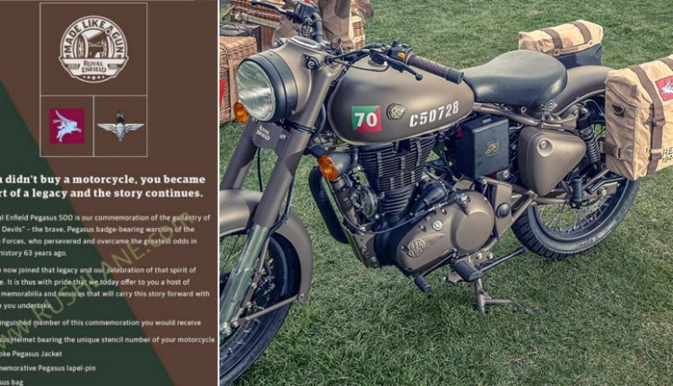 Royal Enfield Offering Free Gifts to Classic Pegasus Owners in India