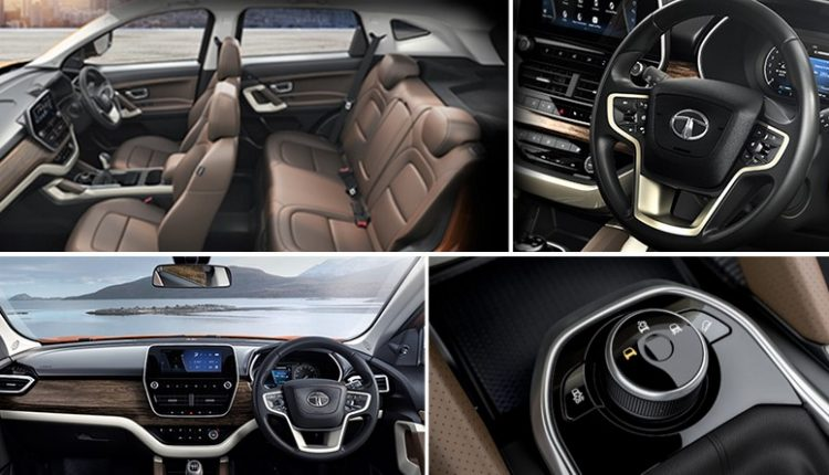 Tata Harrier SUV Interior Photos Officially Revealed