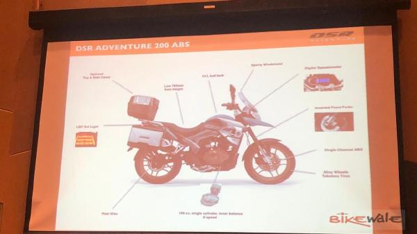 DSR Adventure 200 Features