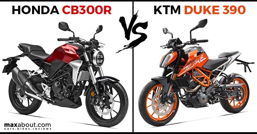 Honda CB300R vs KTM 390 Duke