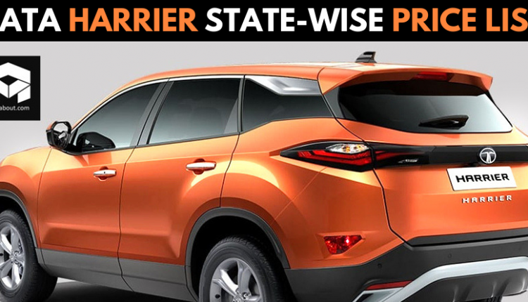 Tata Harrier State-Wise Ex-Showroom Price List in India
